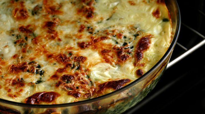 Lasagne met spinazie en witte saus
